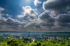 Top view of Gdansk City of Poland Royalty Free Stock Images