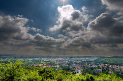 Top view of Gdansk City of Poland Stock Images
