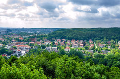 Top view of Gdansk City of Poland Stock Photography