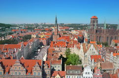 Top view on Gdansk (Danzig)old town in Polandso Royalty Free Stock Photography