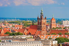 Top view on Gdansk, old town Royalty Free Stock Photos
