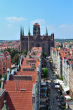 Top-view of Gdansk Stock Photos