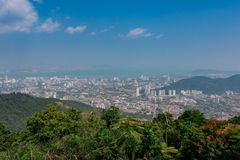 Top view of Georgetown, Penang Island, Malaysia Look from top of Stock Photo