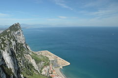 Top view of the Gibraltar Royalty Free Stock Photos