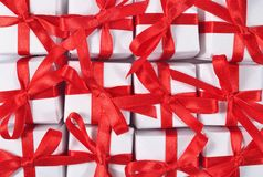 Top view of gifts Royalty Free Stock Photos