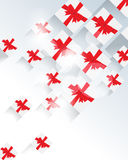 Top view gifts element background Stock Photo