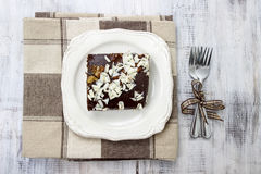 Top view of gingerbread cake Royalty Free Stock Images