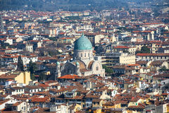Top view  from Giottos bell tower over old Florence Royalty Free Stock Photos