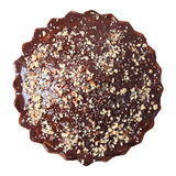 Top view of glazed and sprinkled pie Royalty Free Stock Image