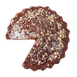 Top view of glazed and sprinkled pie without a piece Royalty Free Stock Photos