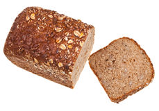 Top view of grain bread loaf Stock Images