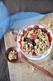 Top View of Granola bowl Royalty Free Stock Image