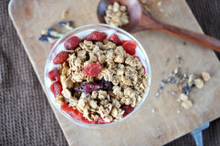 Top View of Granola Stock Photography