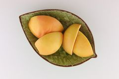 Top view of grapefruit peels Royalty Free Stock Image