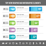 Top View Graphic Bar Infographic Elements Royalty Free Stock Image