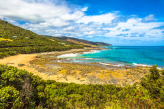 Top view of Great Ocean Road, Victoria Australia Stock Photos