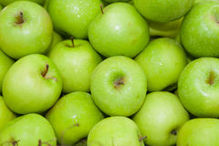 Top view of green apple Stock Photos