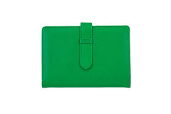 Top view of Green notebook Stock Image