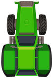 Top view of green tractor Royalty Free Stock Image