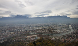 Top view of Grenoble Stock Photo