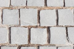 Top view grey concrete pavement texture. Urban architecture background. Text space Royalty Free Stock Photo
