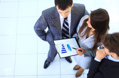 Top view of a group of business Stock Images