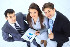 Top view of a group of business Royalty Free Stock Photography