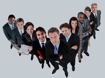 Top view of a group of business people. Royalty Free Stock Images