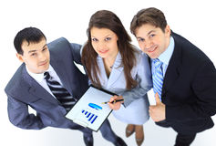 Top view of a group of business people Royalty Free Stock Photography