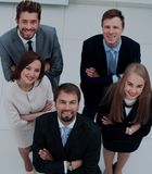 Top view of business people. Top view of a group of business people in office Stock Image