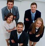 Top view of business people. Top view of a group of business people in office Stock Photo