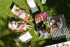Summertime party in the countryside royalty free stock image