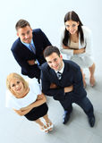 Top view of group of people. Royalty Free Stock Photography