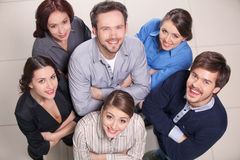 Top view of group of people. Royalty Free Stock Image