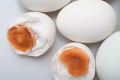top view group of salted duck egg Stock Photography