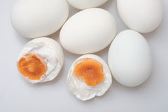 top view group of salted duck egg Stock Photos