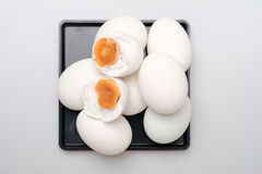 top view group of salted duck egg Royalty Free Stock Photos