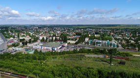 Top view of Gryazi town in Lipetsk oblast in Russia. Top view of Gryazi town in a Lipetsk oblast in Russia Stock Image