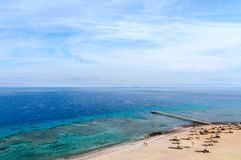 Top view of the Gulf of Aqaba and coral reefs Stock Images