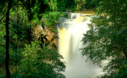 Top view of Haew Suwat waterfall at Khao Yai National Park, Thailand.  Stock Image
