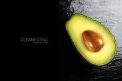 Top View of a Half Ripe Avocado. Clean Eating Concept Stock Photos