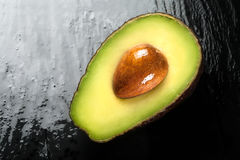 Top View of a Half Ripe Avocado. Clean Eating Concepts Stock Photography