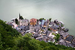 Top view of the Hallstatt. City royalty free stock photography