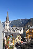 Top view of Hallstatt town square Stock Images