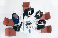 Top view.handshake of commercial partners. business concept. Top view. handshake of commercial partners.business concept stock photos