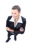 Top view of happy business woman Stock Photo