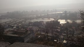 top view of haridwar from Mansa devi royalty free stock images