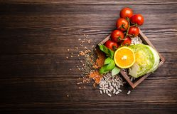 Top view of healthy diet food royalty free stock photography