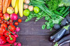Top View of Healthy Eating Background with Colorful Fresh Organic Vegetables and Herbs, Healthy Food from Garden, Diet or Vegetari Royalty Free Stock Images