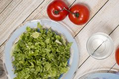 Healthy letucce salad Royalty Free Stock Photo